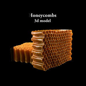 honey honeycombs 3d max
