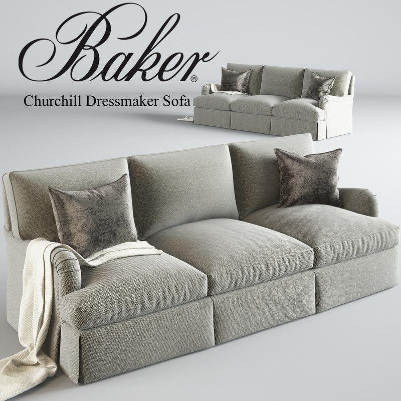 baker churchill dressmaker 3d model