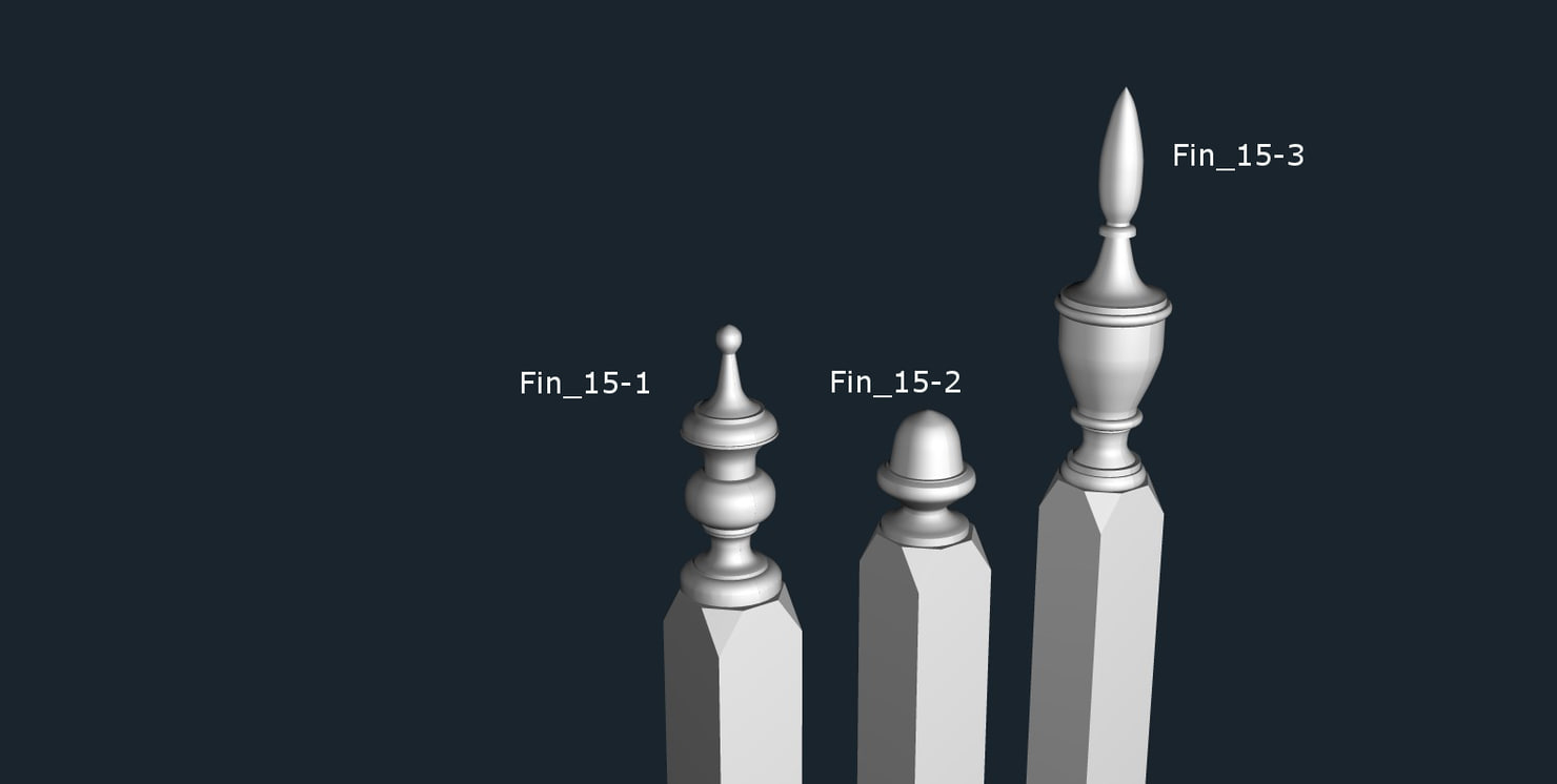 3d finials fence interior