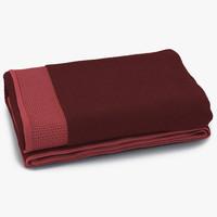 3d model towel red fur