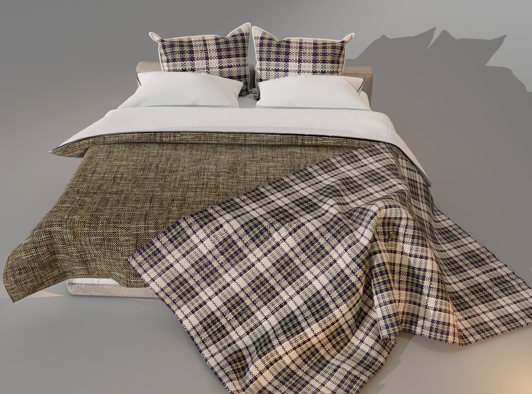 bed pillow cover 3d model