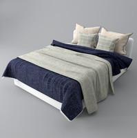 3d bed pillow blanket model