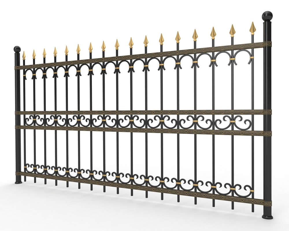 forged fence metal 3d fbx
