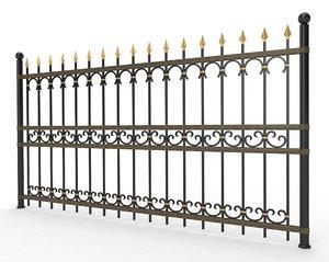 forged fence metal 3d fbx