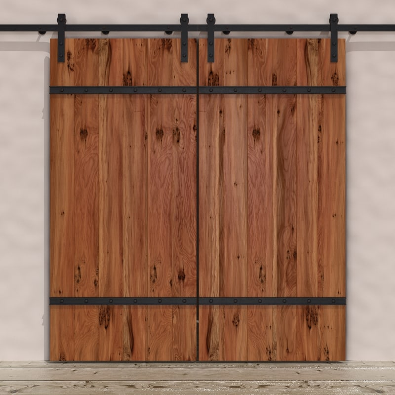 3d dogberry barn door hardware model