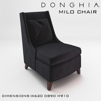 chair milo donghia 3d max