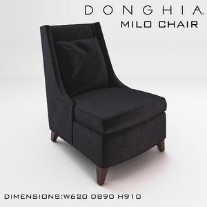 chair milo donghia 3d max