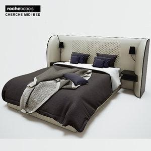 rochebobois cherche midi bed 3d model