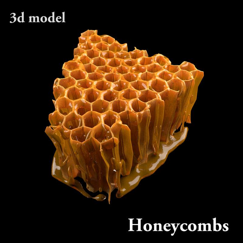honey modeled honeycombs max