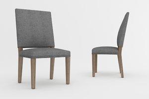 dining chair barrett 3d model