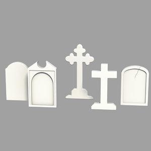 obj grave stone