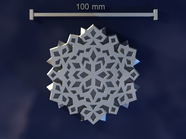3d snowflake mold hand