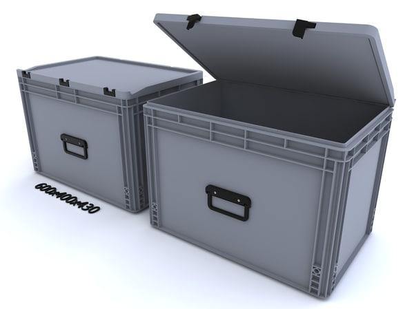 3d plastic container crate model