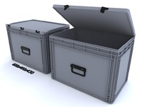 PLASTIC CONTAINER - 3 - CRATE 600x400mm