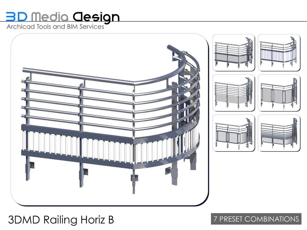 3d model 3dmd railings