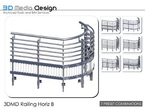 3d model 3dmd railings