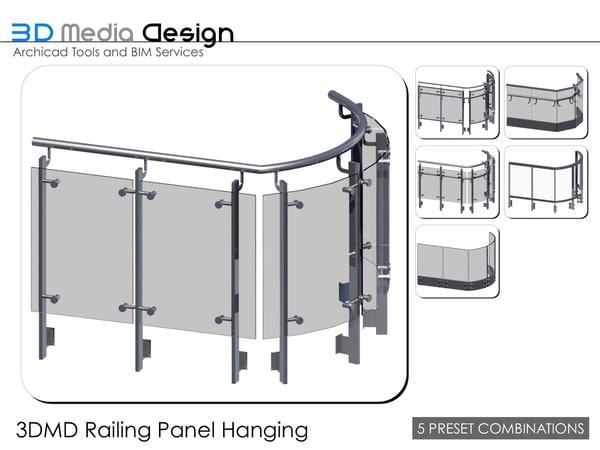 3d 3ds 3dmd railing panel hanging