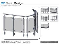 3d 3dmd railing panel hanging model