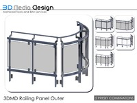 3dmd railings 3d 3ds
