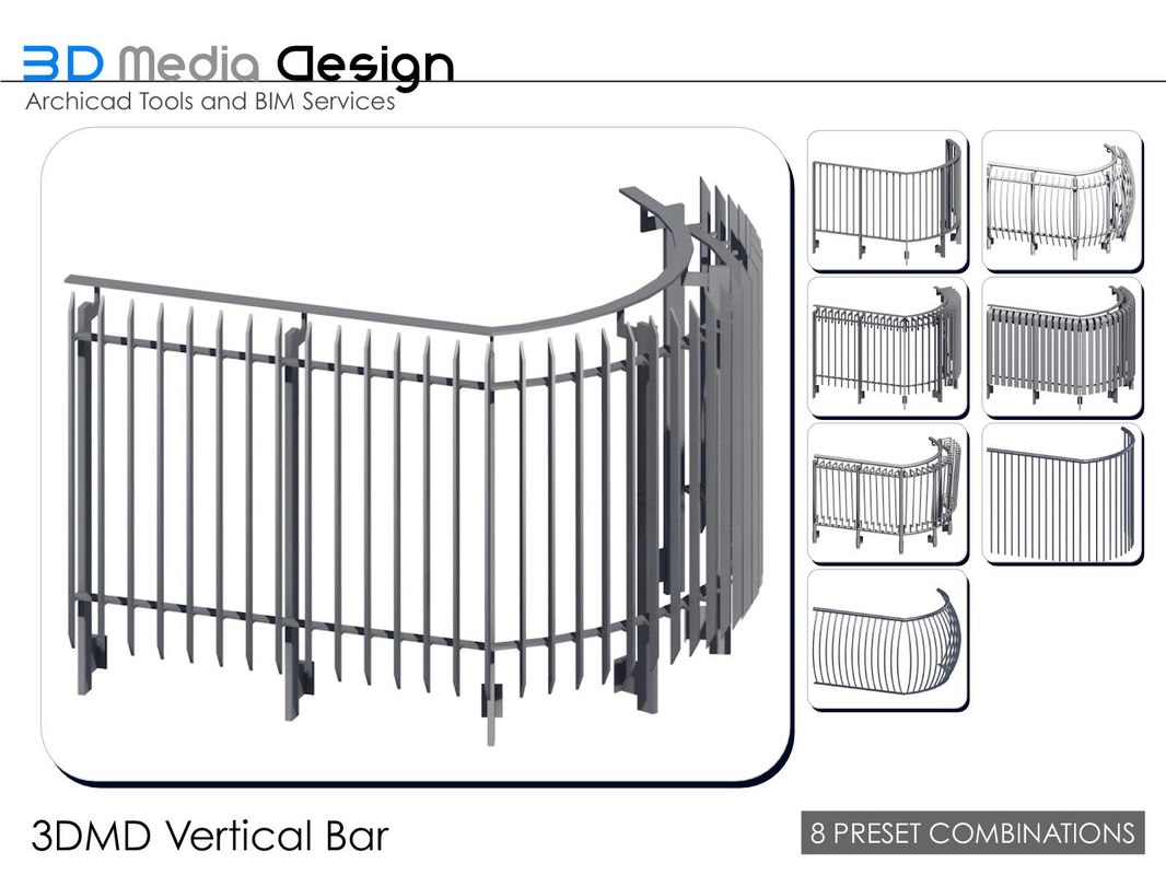 3dmd railings 3ds