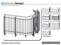 3DMD Railing Vertical Bar V4.2