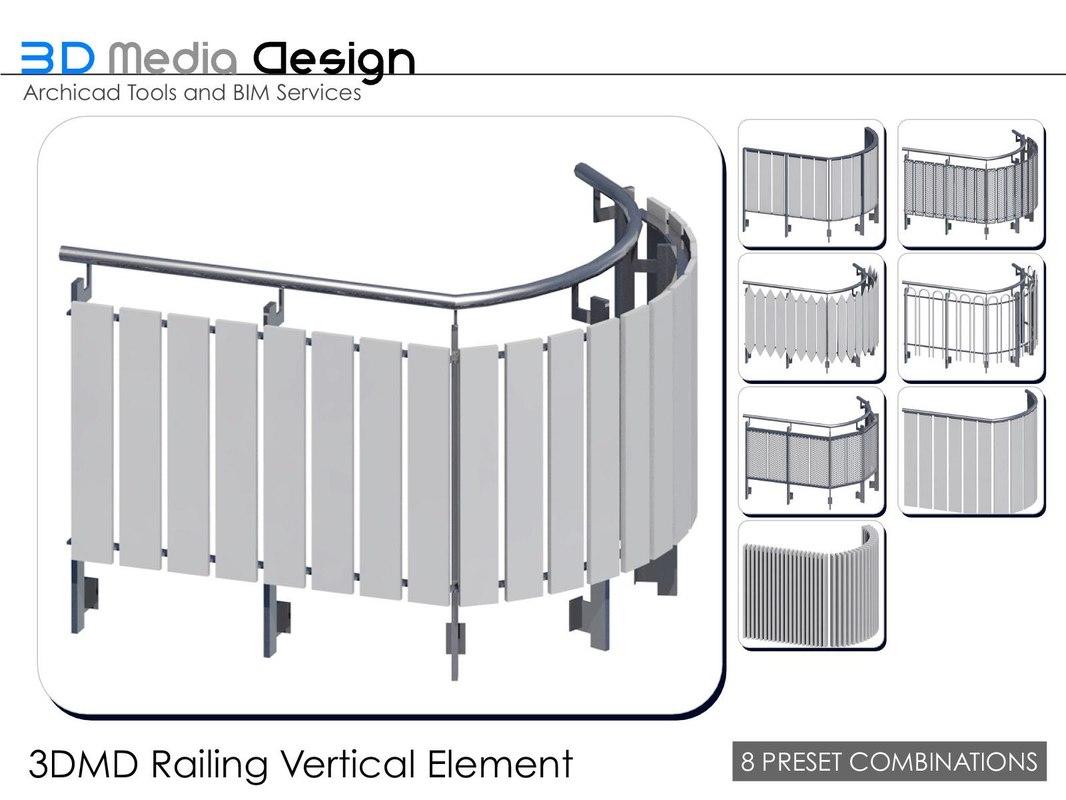 3dmd railings 3d model