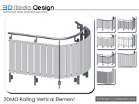3DMD Railing Vertical Element V4.2