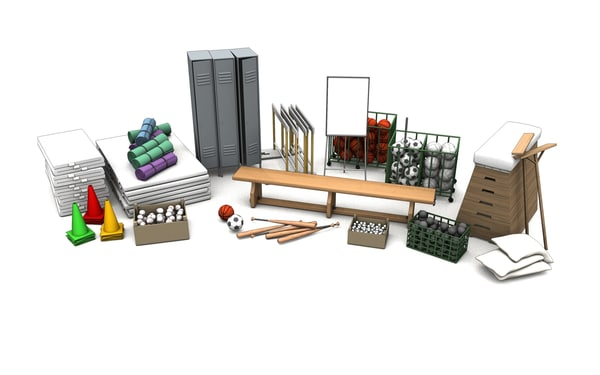 3d model sport gym equipment