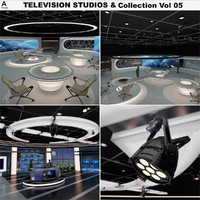 3d model virtual tv studio news sets
