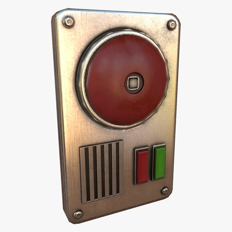 3d alarm asset polys