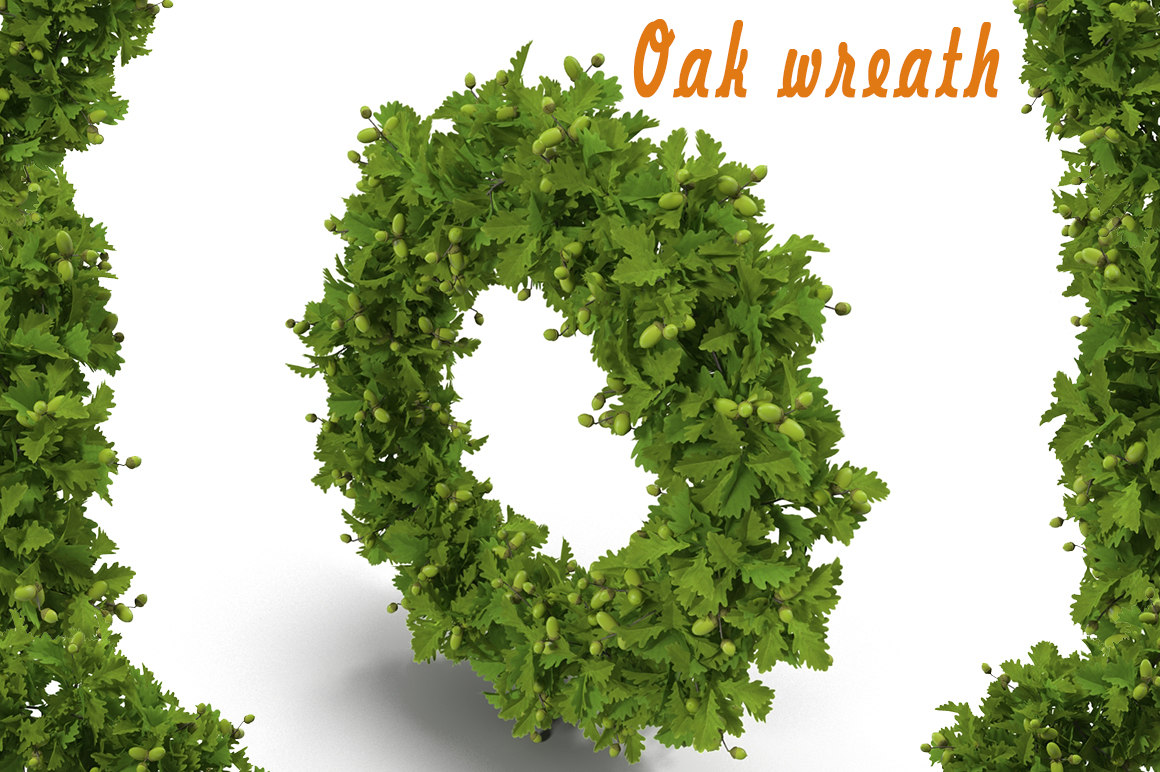 maya oak wreath