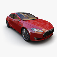 tesla s car 3d 3ds