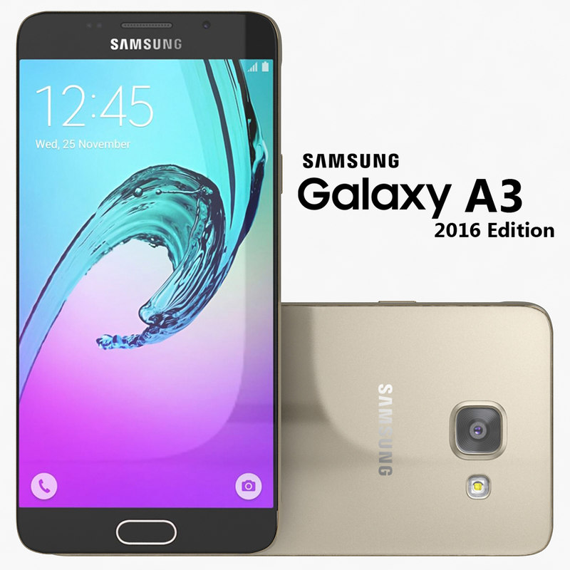 samsung galaxy a3 2016 3d 3ds