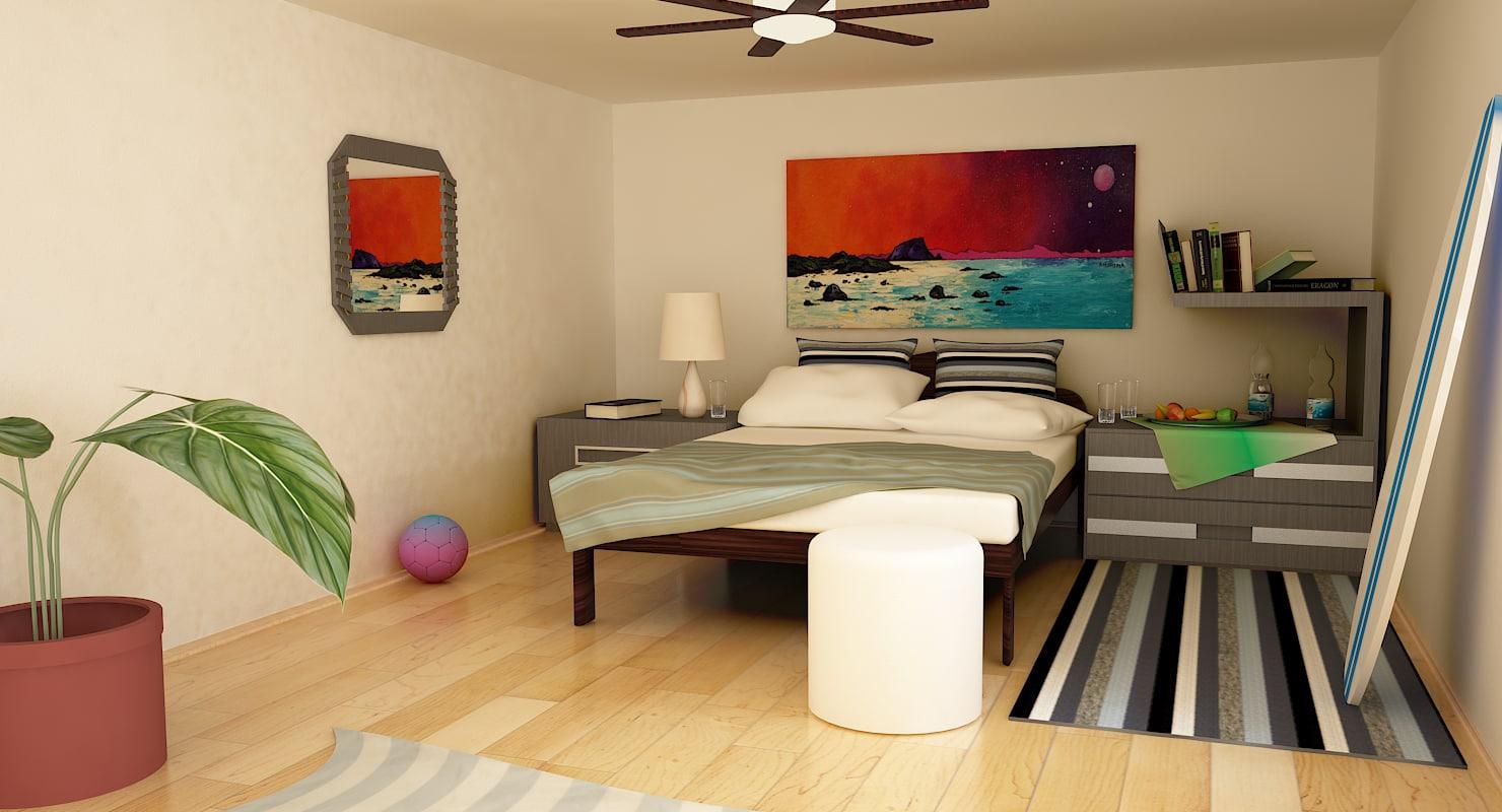 interior bungalow 3d x