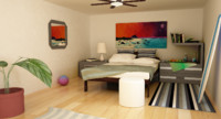 interior bungalow 3d x