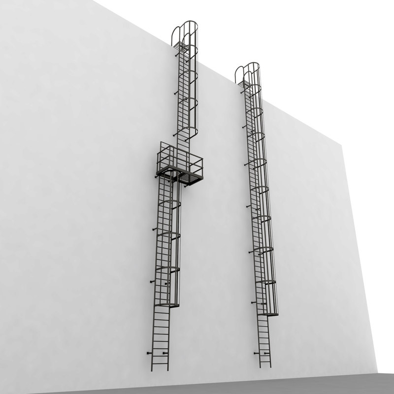 escape stair 3d model