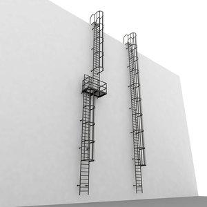 escape stair 3d model