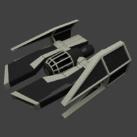 3d blender spaceship model