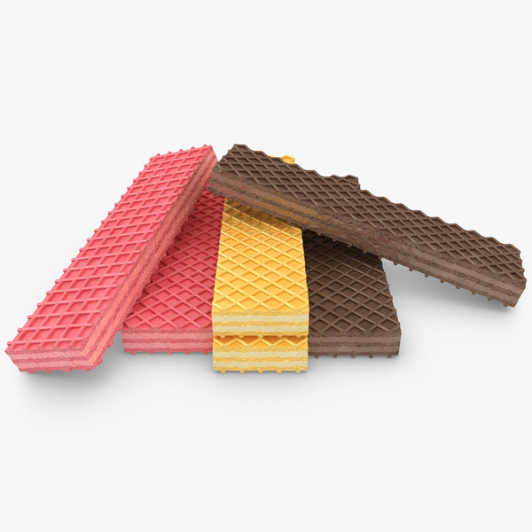 3d realistic wafer cookie 3 model