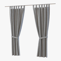 curtain gray 3d c4d