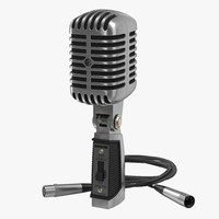 Classic Studio Microphone 2 3D Models Set