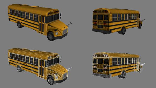 school bus 3d max