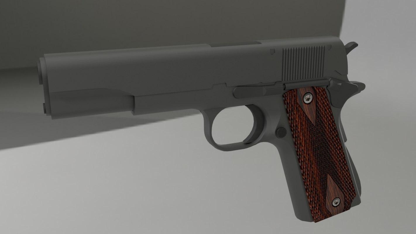 3d colt 1911 pistol