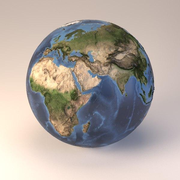 blend earth globe embossed