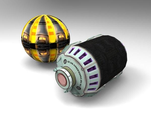 sci-fi grenade modeled 3d model