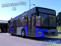3ds max lion city m man