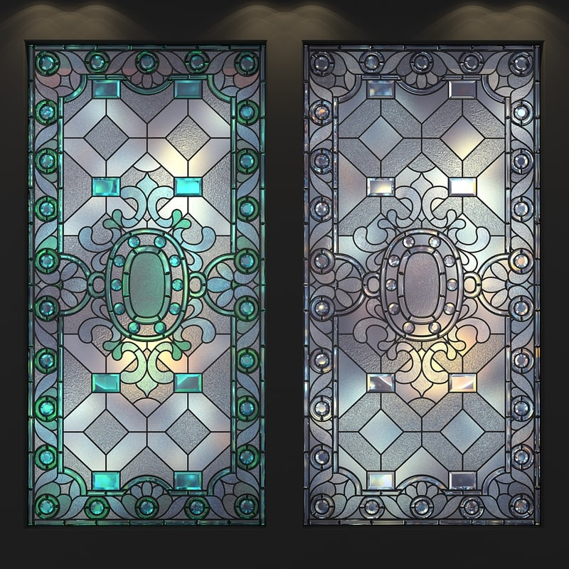 frosted glass window light stainedglass frosted glass 3d model