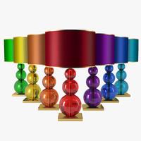 3d table lamp crackled model