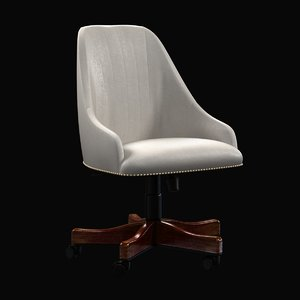 3d model chair maximus office beige