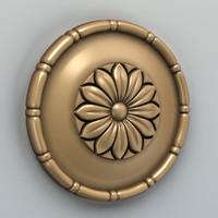 3d model rosette cnc intagli3d
